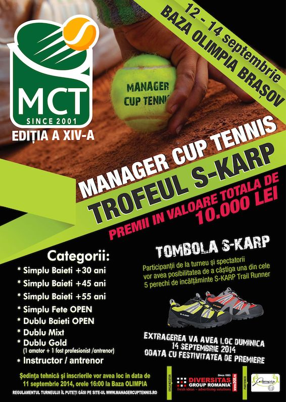 Turneul de tenis Manager Cup Tennis - Brasov 2014