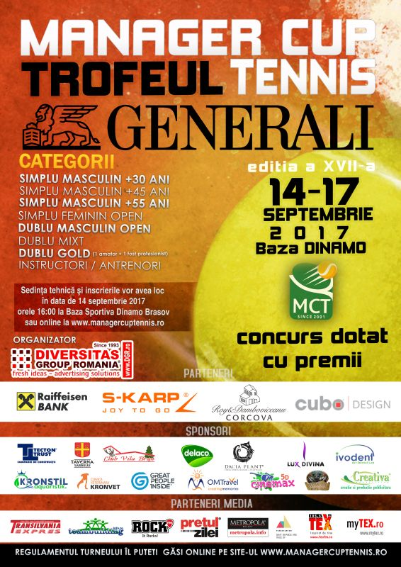 Turneul de tenis Manager Cup Tennis - Brasov 2017