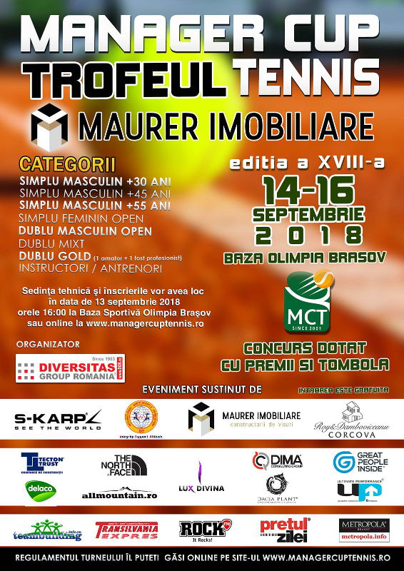 Turneul de tenis Manager Cup Tennis - Brasov 2018