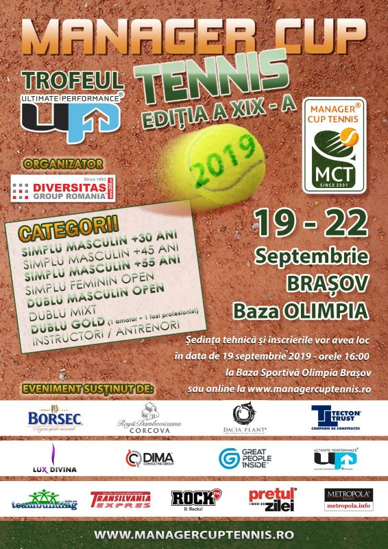 Turneul de tenis Manager Cup Tennis - Brasov 2019